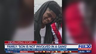 Family: Son is not involved in a gang