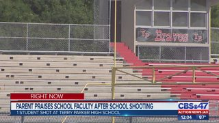 Parent praises school faculty after Terry Parker High School shooting