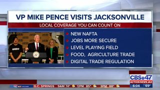 Vice President Mike Pence discusses trade in Jacksonville, how this will benefit local workers