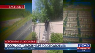 Jacksonville contractor helps police catch man making threats