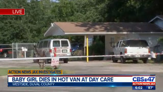 Jacksonville hot car baby death: Baby girl dies in hot van at day care