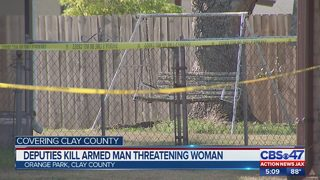 Deputies kill armed man threatening woman
