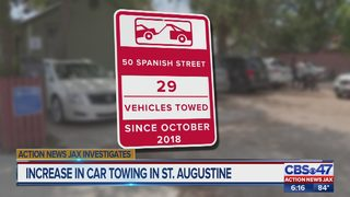 Increased in car towing in St. Augustine