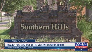 Search for suspect after violent home robbery