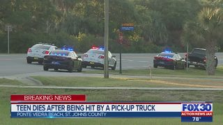 Teen dies after being hit by a pick-up truck