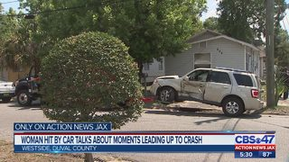Woman hit by car talks about moments leading up to crash