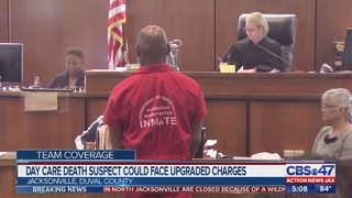 Day care death suspect could face upgraded charges