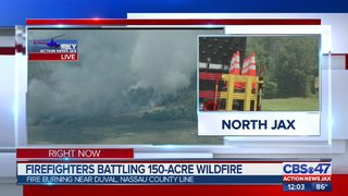 Firefighters battling 150-acre wildfire