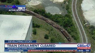 Jacksonville train derailment cleared