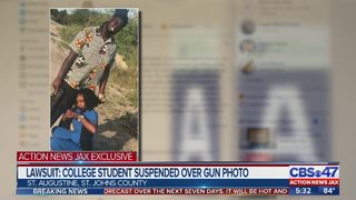 St. Augustine student says she was suspended indefinitely over gun photo