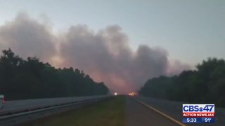 Wildfire causes traffic delays that could affect air travel