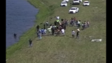 One person was pulled from a vehicle that went into a retention pond of Interstate 95 and 9B at exit 333.