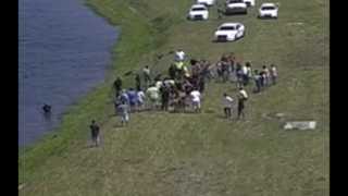 PHOTOS: Person pulled from submerged car off I-95 and 9B