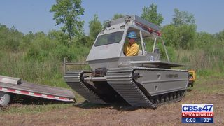 Crews bring in specialized machine to mitigate Yellow Bluff Fire