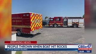 JFRD: People ejected from boat after hitting rocks near Little Marsh Island