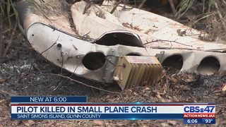 Small plane crash on St. Simons Island kills pilot
