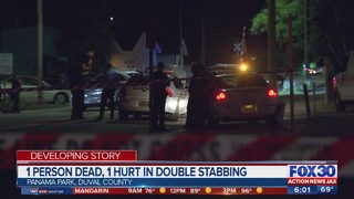 1 person dead, 1 hurt following double-stabbing
