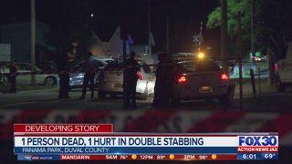 1 person dead, 1 hurt following double-stabbing