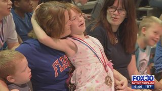 6-year-old who has battled brain cancer gets Disney trip from middle school
