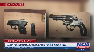 Guns found on suspects after police shooting