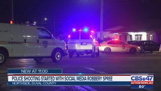Police shooting started with social media robbery spree