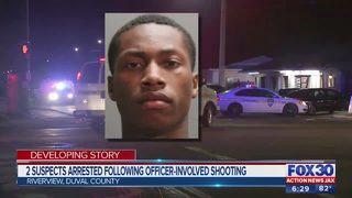 2 suspects arrested following officer-involved shooting