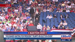 Thousands waiting for President Trump