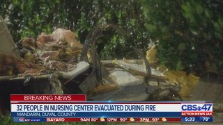 32 people evacuated after nursing home catches fire