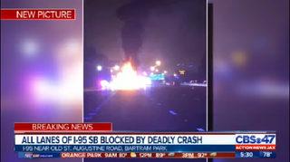 I-95 DEADLY CRASH JACKSONVILLE: Fatal crash on I-95 south