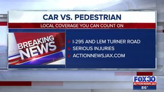 Pedestrian hit by car near I-295 and Lem Turner Road, according to JFRD