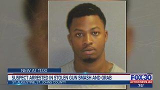 Suspect arrested in stolen gun smash and grab