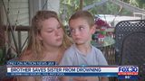 7-year-old saves sister from drowning