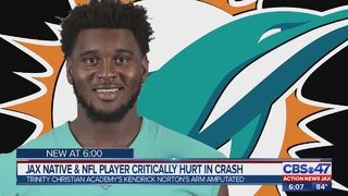 Communities rally behind Miami Dolphins player from Jacksonville who lost arm in car crash