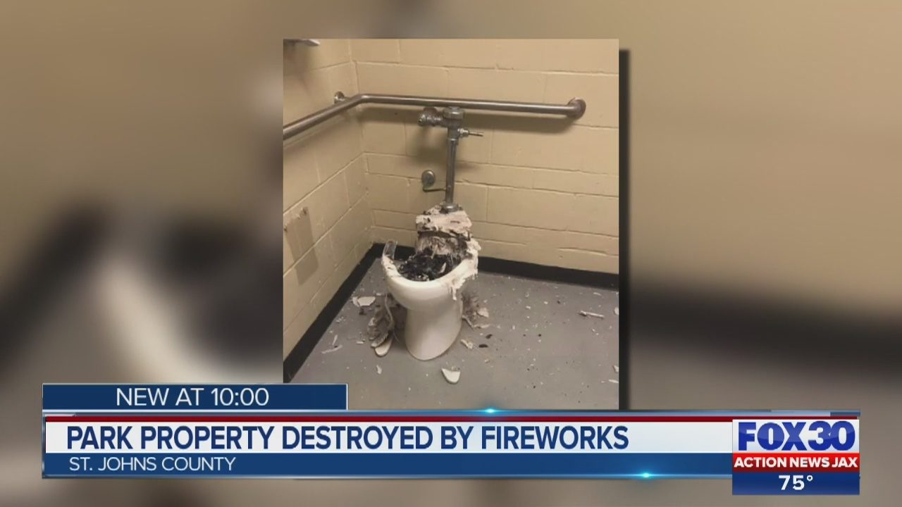 SJSO: Using fireworks, criminals blow up toilets, urinals in