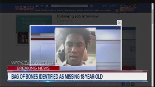 Bag of bones identified as missing 18-year-old