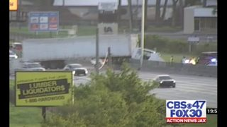 One reported injury in crash involving semi truck and multiple other vehicles on I-10