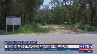 Neighbors against proposed development in Amelia Island