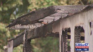 Doorbell camera captures video of suspected arson