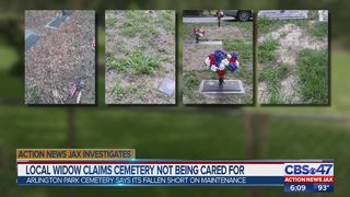Local widow claims cemetery not being cared for