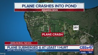 Plane submerged and at least one hurt