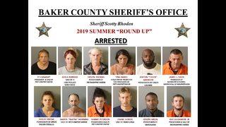 Photos: Baker County drug bust nets 12 arrests, 7 sought