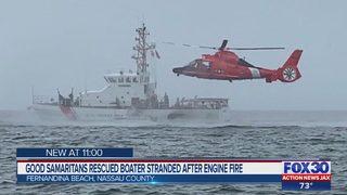 Good Samaritans rescued boater stranded after engine fire