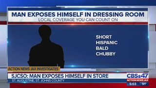 Deputies searching for man who exposed himself to employees at a St. Augustine store