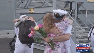More than 300 Navy sailors return home on USS Fort McHenry after 7-month deployment