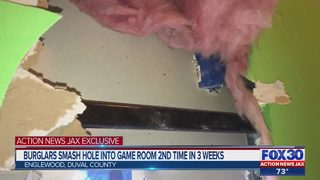Burglars smash hole into game room 2nd time in 3 weeks