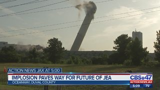 JEA boilers, stack implodes in St. Johns River Power Park