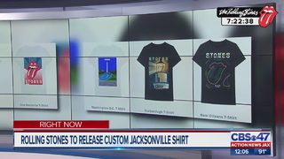 Rolling Stones to release custom Jacksonville shirt