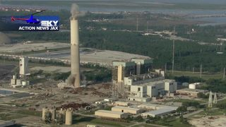 Sky Action News Jax: Chopper video shows JEA boilers, stack implosion in Jacksonville