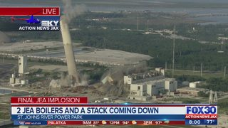 WATCH: JEA boilers, stack implodes