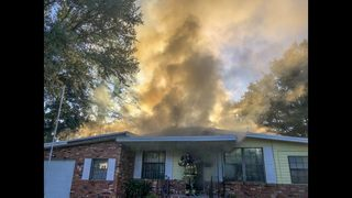 PHOTOS: House fire on Burling Road in Jacksonville